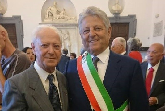 Giuliano Aureli con il sindaco di Velletri Fausto Servadio